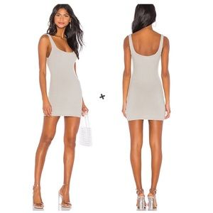 Lovers + Friends Posh Taupe Fuzzy Knit Tank Dress